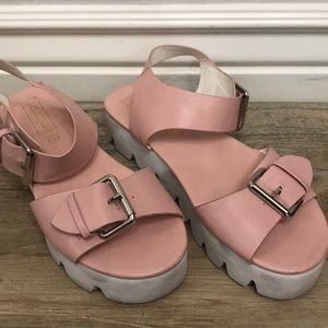 Pink barely worn wedges